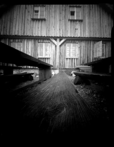 2005 Eugeniusz Józefowski, Samotna Samotnia, pinhol, negatyw 4 x 5 cala