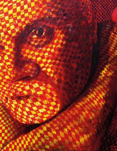 2006 2008 Eugeniusz Józefowski, Czerwona dusza na ramieniu, olej na płótnie, 120 cm x 100 cm,10