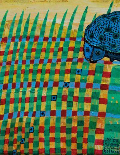 2009 Eugeniusz Józefowski, Ni to ni owo, olej na płótnie, 25 x 20 cm