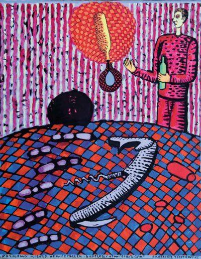 2009 Eugeniusz Józefowski, Rozmowy między, olej na płótnie, 40 x 50 cm