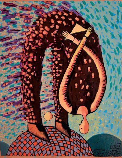 2009 Eugeniusz Józefowski , Zdecydowany i gleboki sklon olej na płótnie, 40 x 50 cm