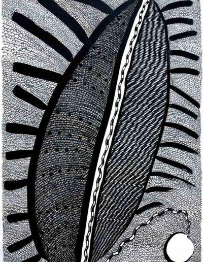 2012 Eugeniusz Józefowski, Co zniszczyło Brahmandę rysunek tuszem, 100 x 70 cm