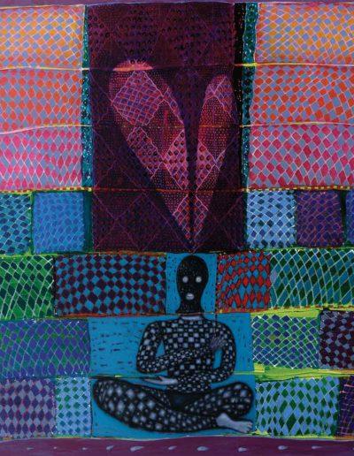 2013 Eugeniusz Józefowski , Siedmiopasmowa medytacja olej i akryl na płótnie, 150 x 110 cm
