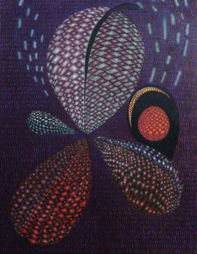 2014 Eugeniusz Józefowski, Ciemna czterolistna roślina, akryl i olej na płótnie, 110 x 150 cm 06