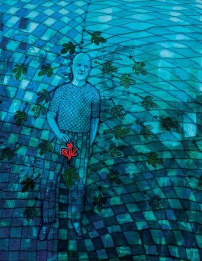 2014 Eugeniusz Józefowski , Pod każdym liściem jest jego druga strona akryl i olej na płótnie 200 x 170 cm