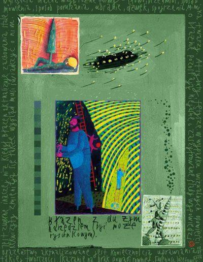 2015_1999_1987_11 Szkicownik paryski II Błazen z narzędziem, 6 x 8 cm