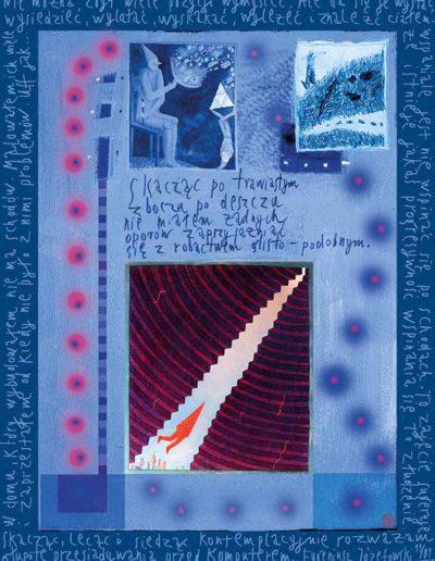 2015_1999_1987_14 Szkicownik paryski II Skacząc lecąc i siedząc, 6 x 8 cm