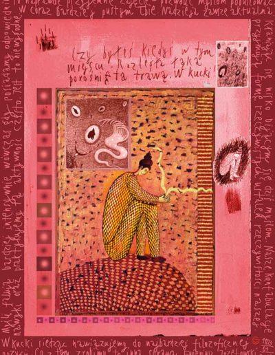 2015_1999_1987_17 Szkicownik paryski II W kucki siedząc, 6 x 8 cm