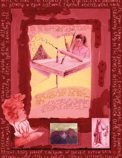2015_1999_1987_25 Szkicownik paryski Prezent , który pomógł zmianom, 6 x 8 cm