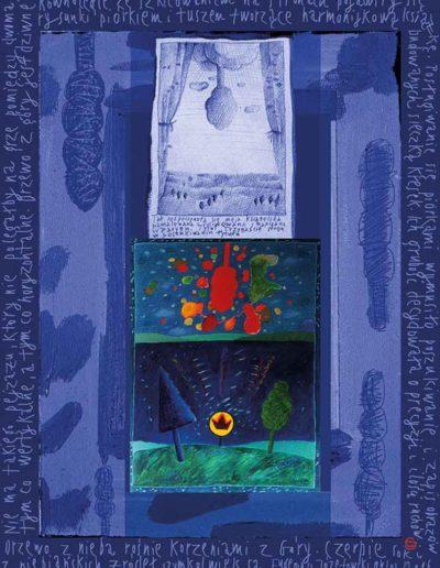 2015_1999_1987_26 Szkicownik paryski Drzewo z nieba, 6 x 8 cm