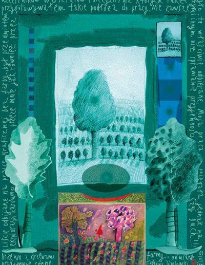 2015_1999_1987_27 Szkicownik paryski Drzewo z drzewami, 6 x 8 cm
