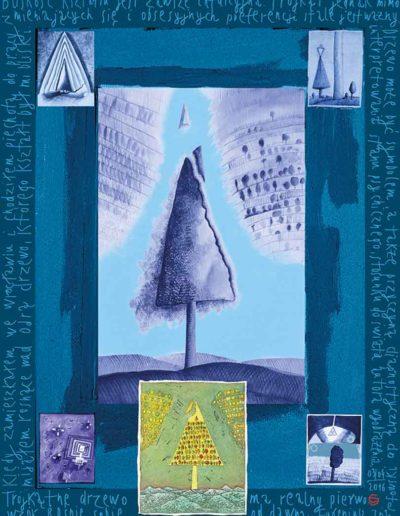 2015_1999_1987_30 Szkicownik paryski Trójkątne drzewo, 6 x 8 cm