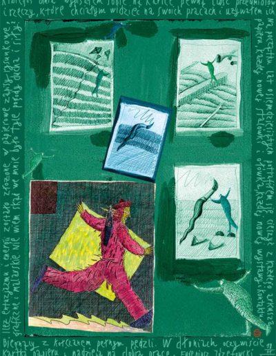 2015_1999_1987_33 Szkicownik paryski Biegnący z kołczanem pełnym pędzli, 6 x 8 cm