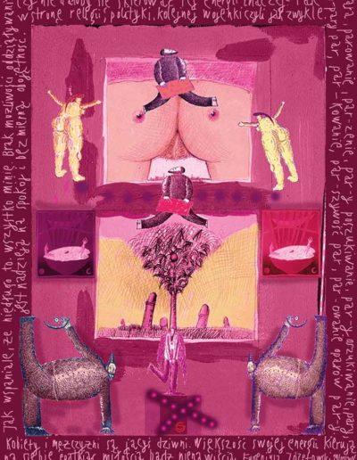 2015_1999_1987_35 Szkicownik paryski Kobiety i mężczyźni, 6 x 8 cm