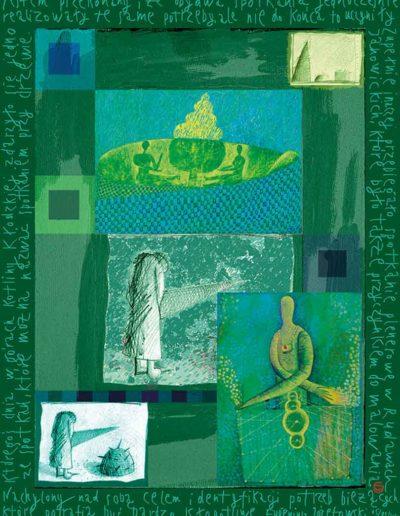 2015_1999_1987_38 Szkicownik paryski Nachylony nad sobą, 6 x 8 cm