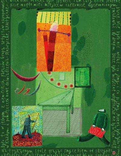 2015_1999_1987_42 Na trójkątnym stole Szkicownik paryski, 6 x 8 cm