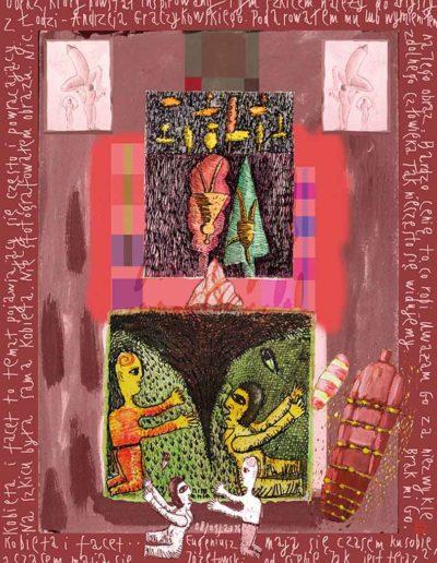 2015_1999_1987_46 Szkicownik paryski Kobieta i facet, 6 x 8 cm
