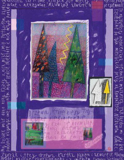 2015_1999_1989_09 Zygzak i trzy drzewa, 7,5 x 10