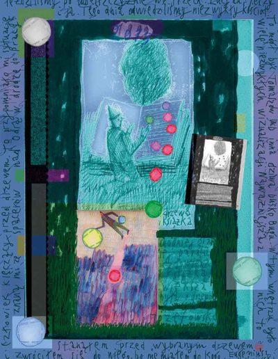 2015_1999_1989_24 Człowiek przed drzewem, 7,5 x 10 cm