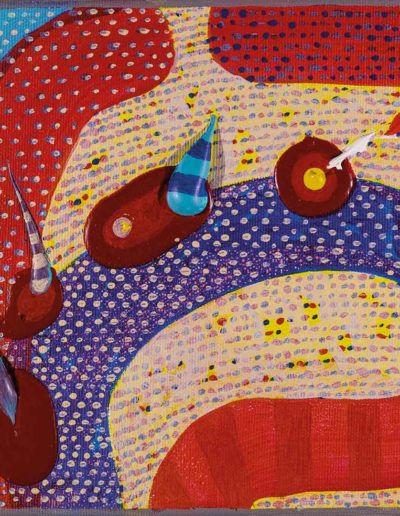 2017 Eugeniusz Józefowski ,Łagodny zakręt w myśleniu o przypadkowości losu, 20 x 20 cm, akryl na płótnie