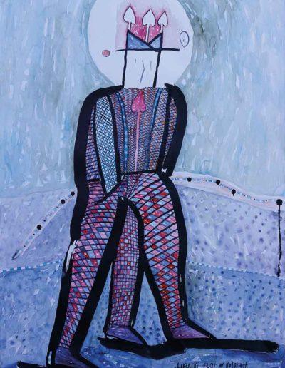 2017 Eugeniusz Józefowski Lipanski facet w kolorach prawie narodowych, akwarela, 70 x 100 cm