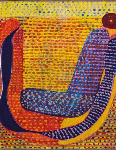 2017 Eugeniusz Józefowski, Miejsce na uniesienie nasienia , 20 x 20 cm, akryl na płótnie RGB