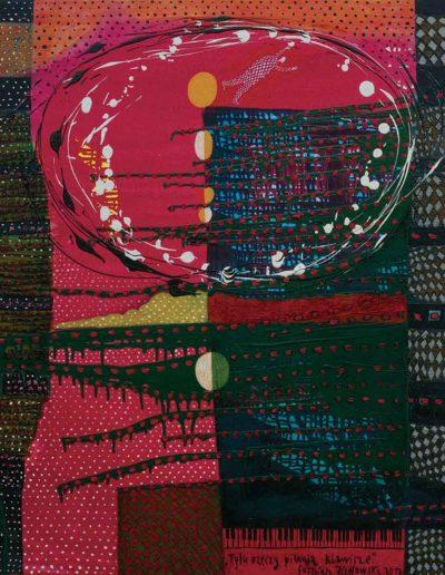 2017 Eugeniusz Józefowski, Tyle rzeczy pilnują klawisze, akryl i olej na płótnie 115 x 100 cm