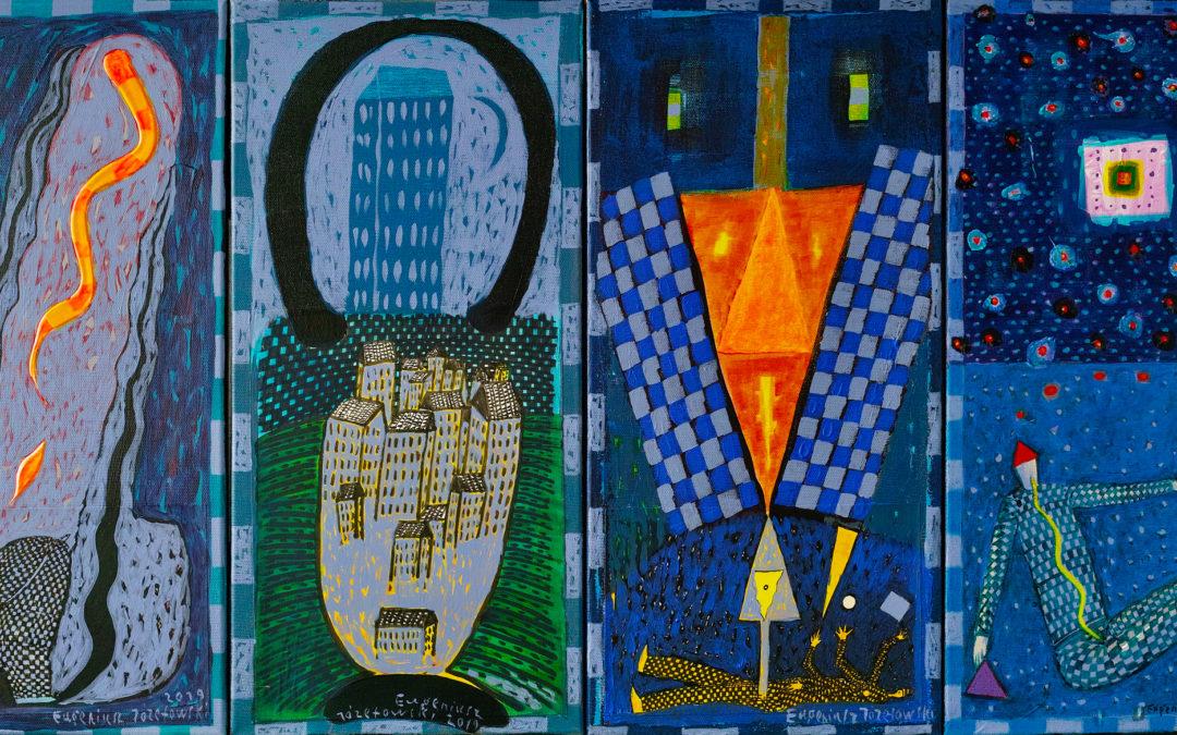 """Zaproszenie na wernisaż wystawy: """"Eugeniusz Józefowski. Na Marginesie"""", Galeria NEON, 21.02.2020, godz. 17.00"""
