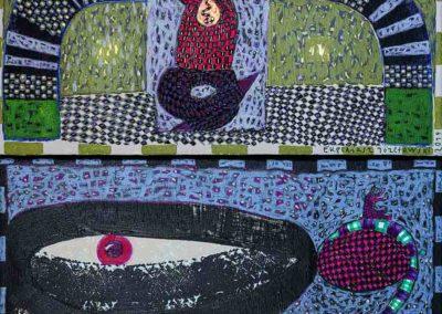 2019 Eugeniusz Józefowski, z cyklu PZNiK - Zestaw 21, akryl na płótnie, format 50 x 96 cm
