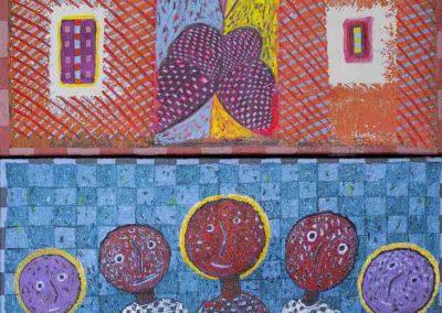 2019 Eugeniusz Józefowski, z cyklu PZNiK - Zestaw 23, akryl na płótnie, format 50 cm x 96 cm finał